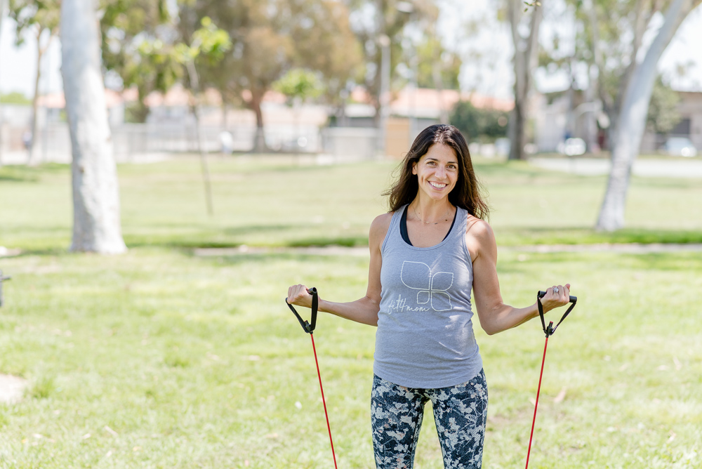 FIT4MOM Torrance Owner working out