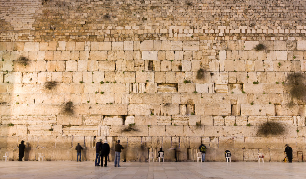 The Western Wall - Holy place for prayer in Jerusalem, Israel