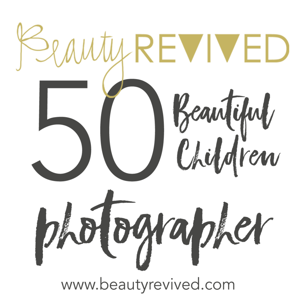 Lifestyle Newborn & Family Photographer, Beautiful Children Photographer Logo