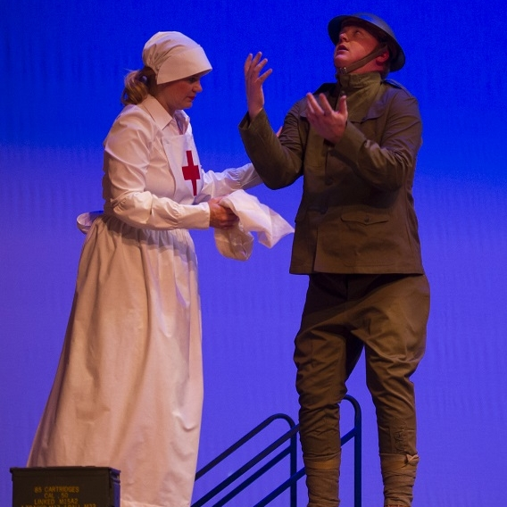 WWI - Jane (Theresa Werner)& Johnny Vet (James Martin)Photo Credit: Rod Lamkey