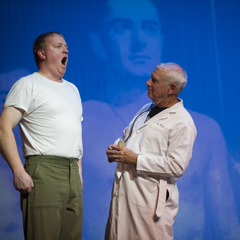 Vietnam War - Johnny Vet (James Martin) & Doctor (Richard Kaufmann)Photo Credit: Rod Lamkey
