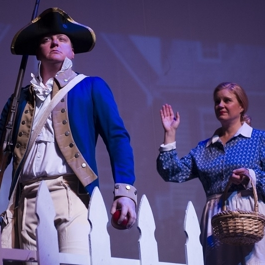Revolutionary War - Johnny Vet (James Martin)& Jane (Theresa Werner)Photo Credit: Rod Lamkey