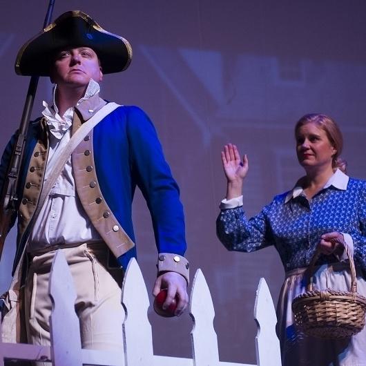 Revolutionary War - Johnny Vet (James Martin)& Jane (Theresa Werner)Photo Credit: Rod Lamkey