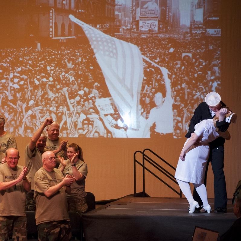 WWII - The Kiss (Theresa Werner & James Martin)Photo Credit: Rod Lamkey