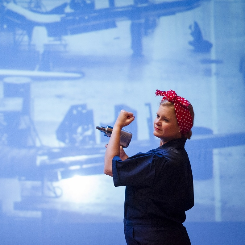 WWII - Rosie the Riveter (Theresa Werner)Photo Credit: Rod Lamkey