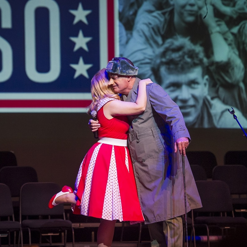 Korean War - Jane (Theresa Werner) & Bob Hope (Jess Gatlin '68)Photo Credit: Rod Lamkey