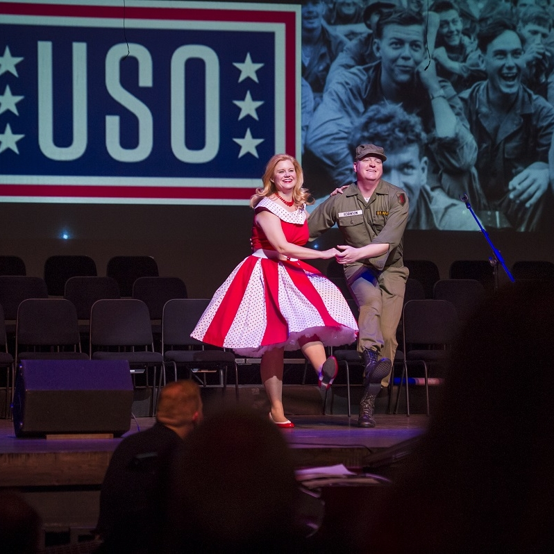 Korean War  - Jane (Theresa Werner) &Johnny Vet (James Martin)Photo Credit: Rod Lamkey