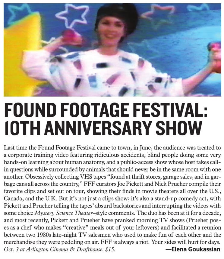 http://www.washingtoncitypaper.com/arts/article/13046042/found-footage-festival-10th-anniversary-show-oct-3-at-arlington