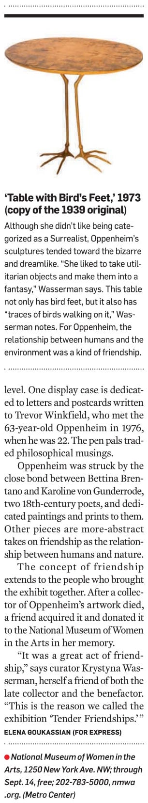 https://www.washingtonpost.com/express/wp/2014/05/08/meret-oppenheim-tender-friendships-national-museum-women-arts/