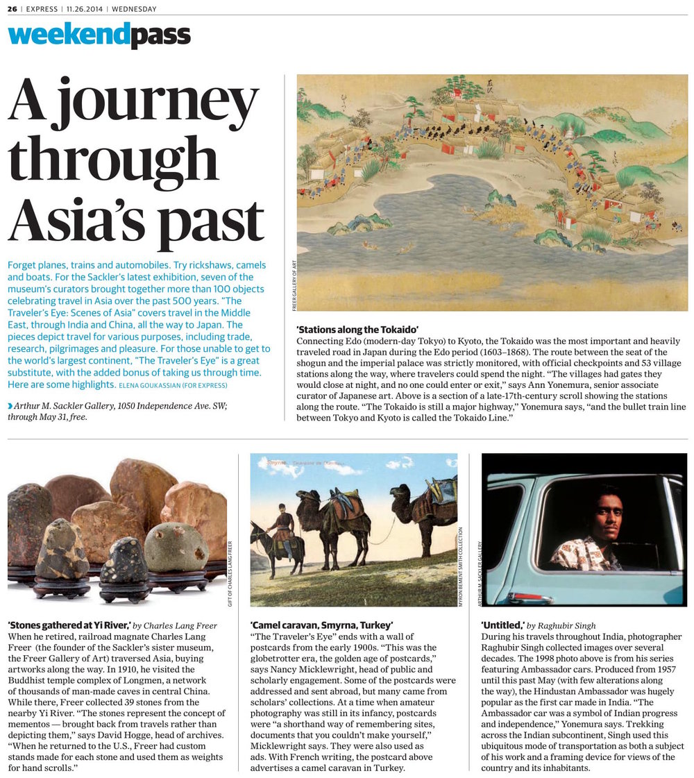 https://www.washingtonpost.com/express/wp/2014/11/26/the-travelers-eye-at-sackler-leads-visitors-on-a-journey-through-asias-past/