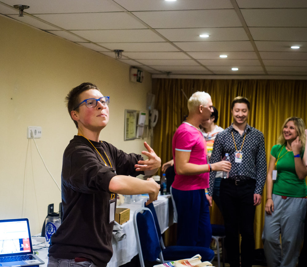 """""""Телаборатория"""" стартует на Форуме ЛГБТ-активистов (день 1). Ноябрь 2017. Фото Российской ЛГБТ-сети."""