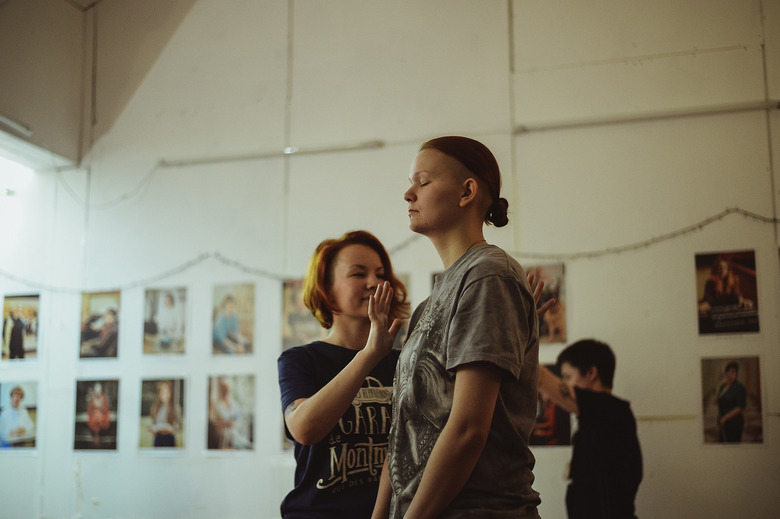 One of the ongoing Telaboratoria ten-week classes, Dec 2017. Photos by Katya Polozova
