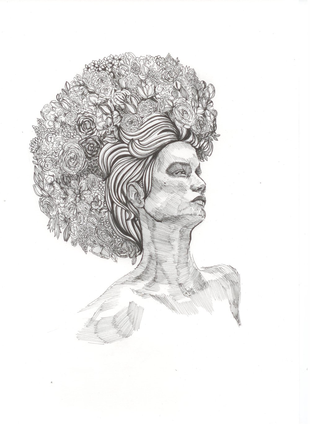 """flowers"", Kim's artwork"
