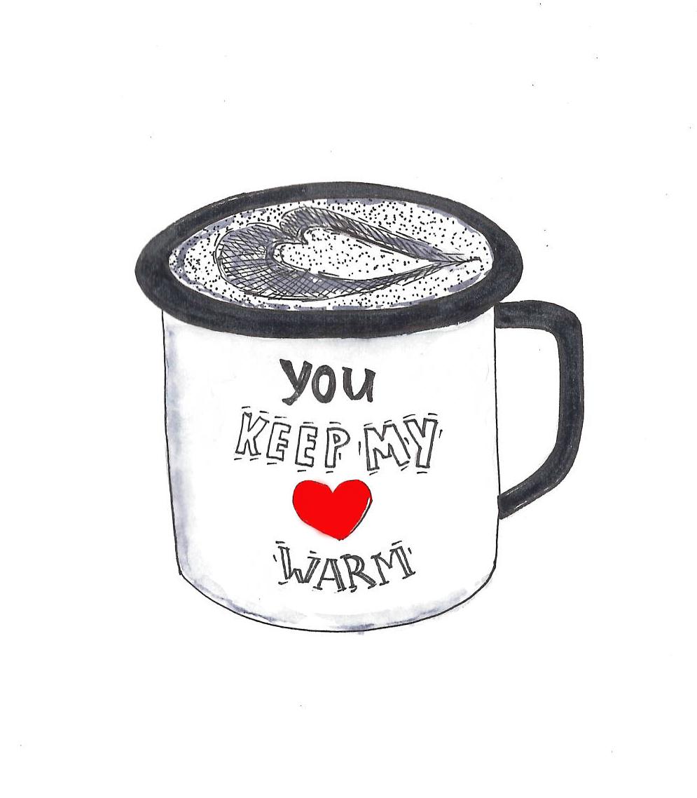"""cup"", Kim's artwork"