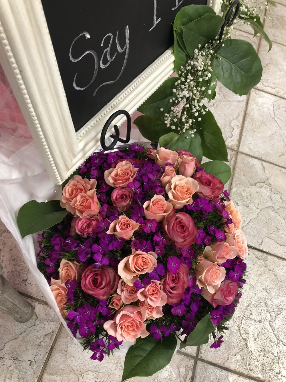 Flowers from her future Husband