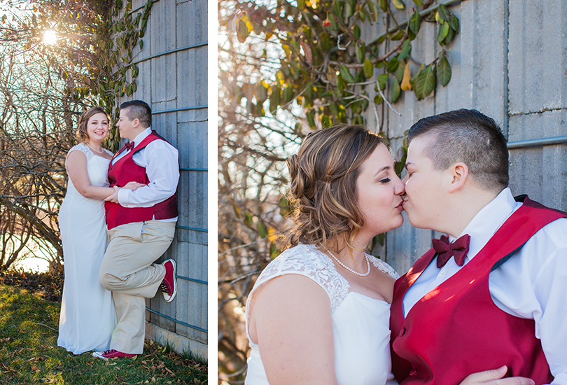 Illinois-wedding-photographer-winter-couple-pose-by-vine-covered-wall-kiss.jpg