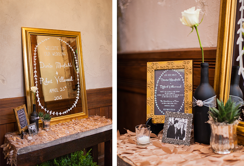 Downtown Indianapolis wedding photographer chalk paint mirror invitation succulent detail welcome table.jpg