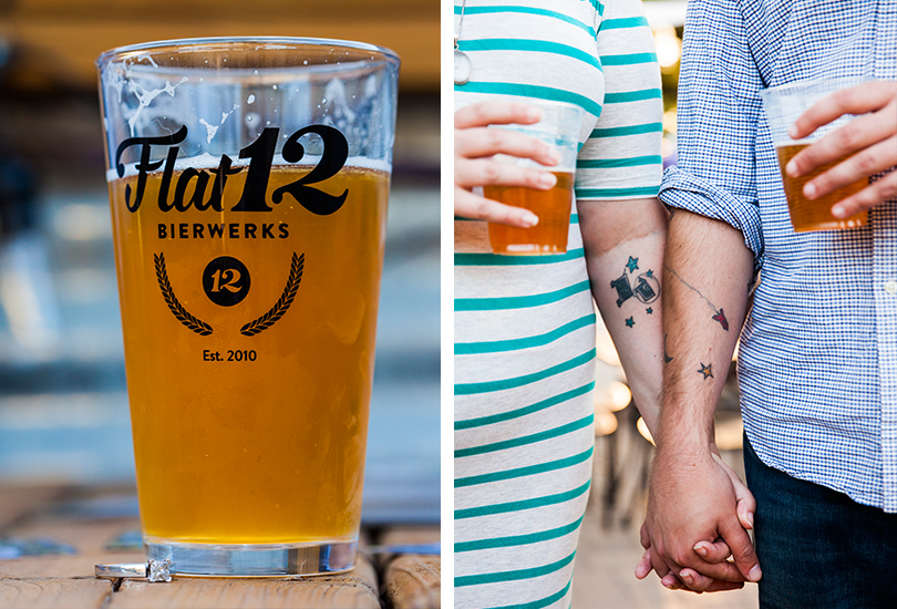 Indianapolis brewery engagement photographer