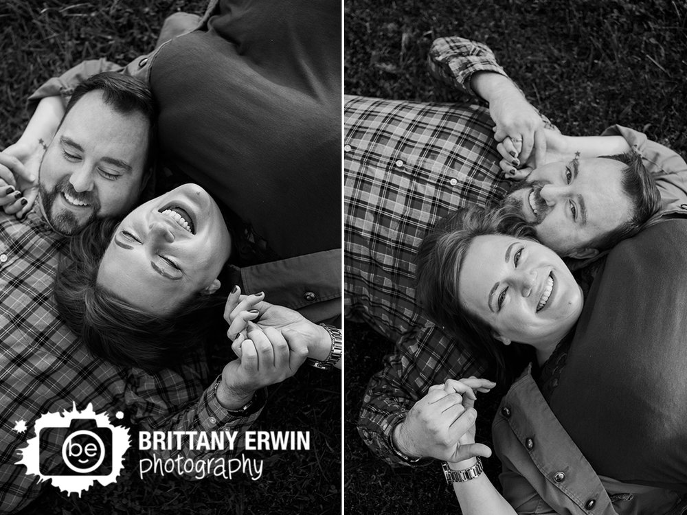 Indianapolis engagement photographer fun couple