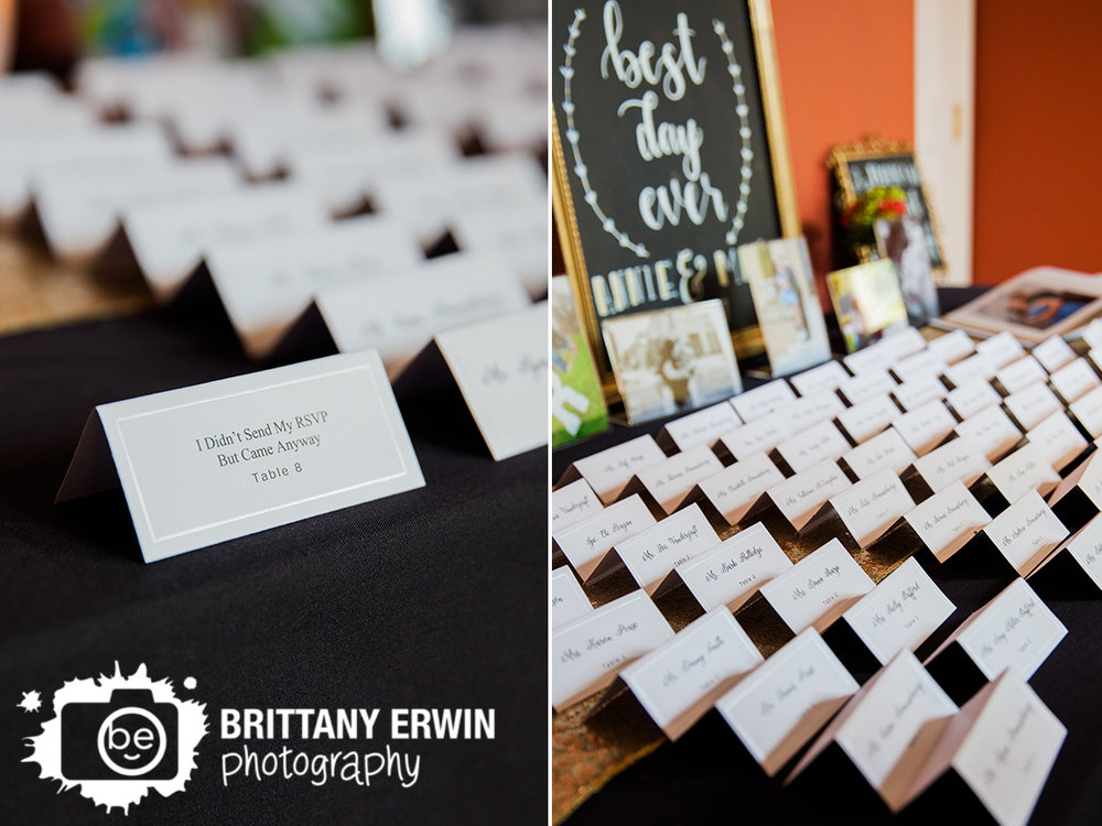Indianapolis-wedding-reception-photographer-Hillcrest-Country-Club-place-card-display-funny-setting.jpg