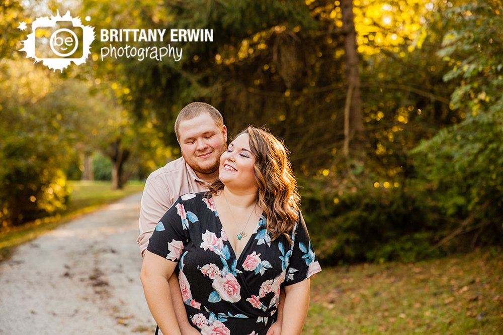 Indianapolis engagement photographer romantic couple at sunset by Brittany Erwin Photography