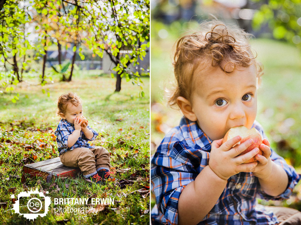 Indianapolis-fall-portrait-photographer-sitting-on-box-eating-apple-Brittany-Erwin-Photography.jpg