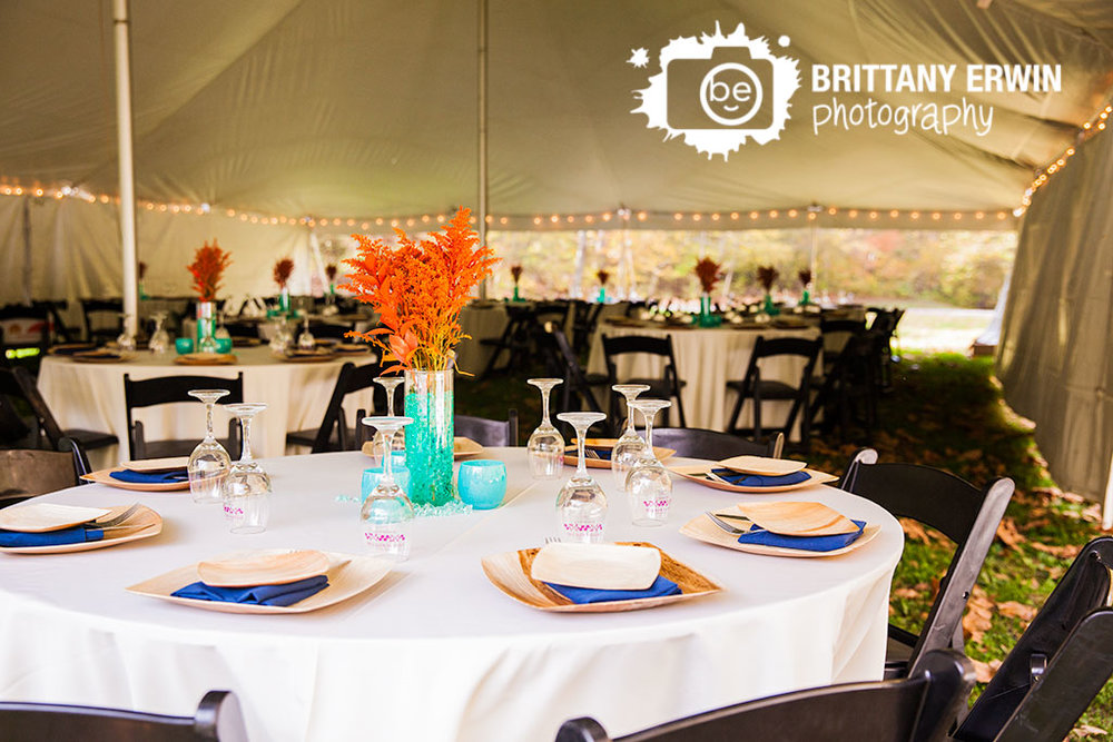Orange-blue-centerpiece-cosmos-theme-wedding-wood-plates-Story-Inn-reception-photographer.jpg