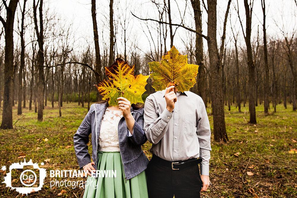 Indianapolis-fall-fort-harrison-engagement-portrait-photographer-maple-leaf.jpg