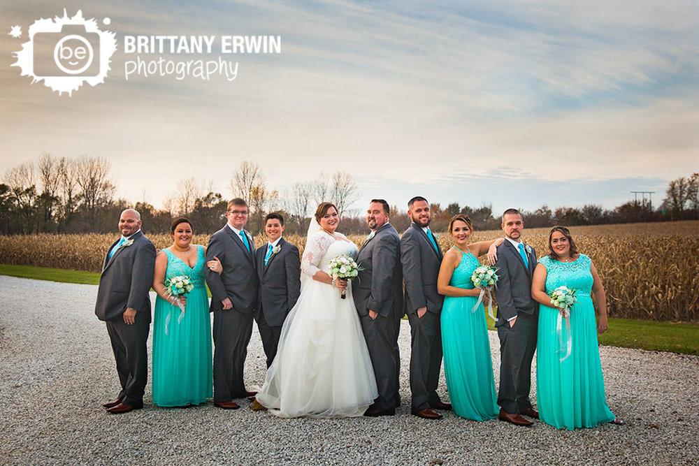 Lizton-Indiana-Barn-at-Kennedy-Farm-wedding-photographer-bridal-party-sunset-sky.jpg