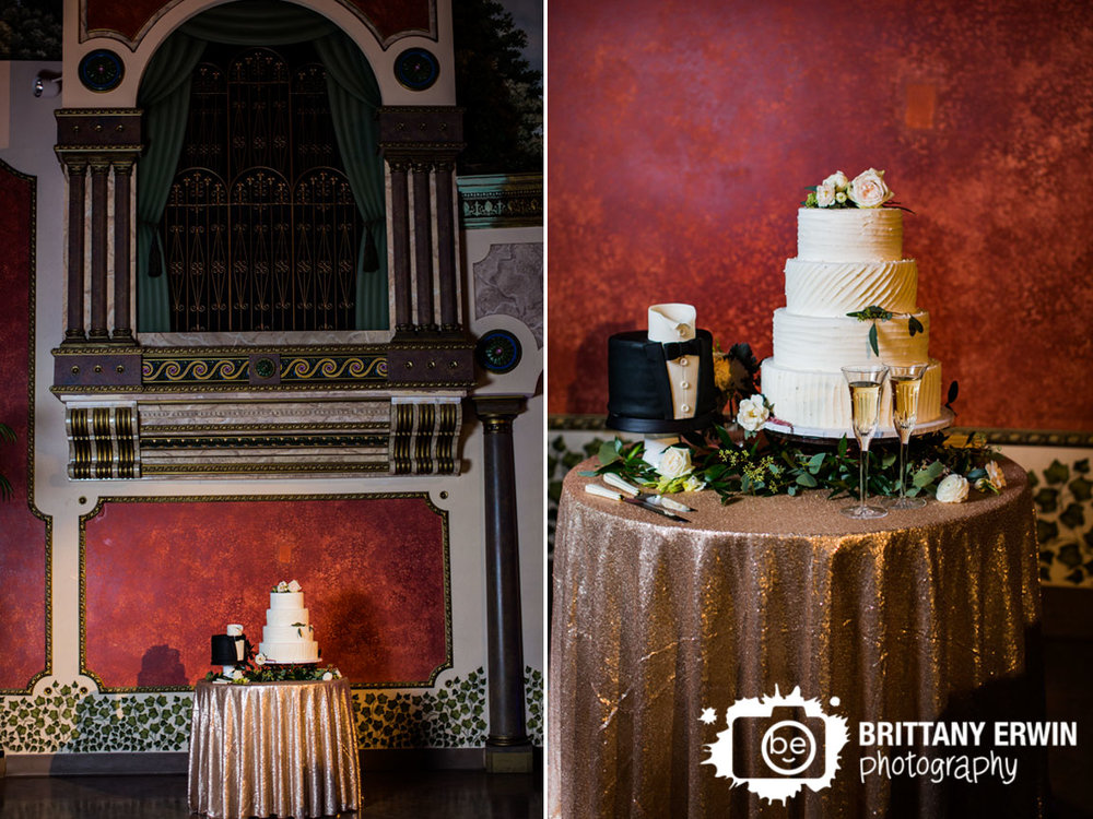 Fountain-Square-theater-wedding-reception-photographer-cake-table-spotlight.jpg