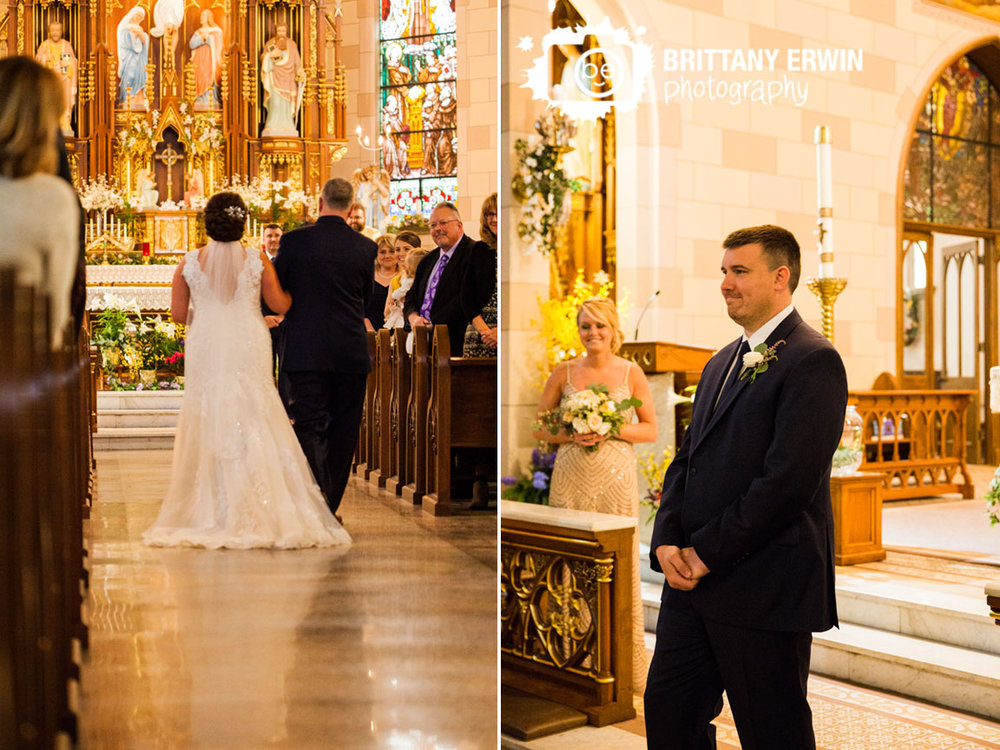 Indianapolis-wedding-photographer-bride-walk-down-aisle-with-father-groom-reaction.jpg