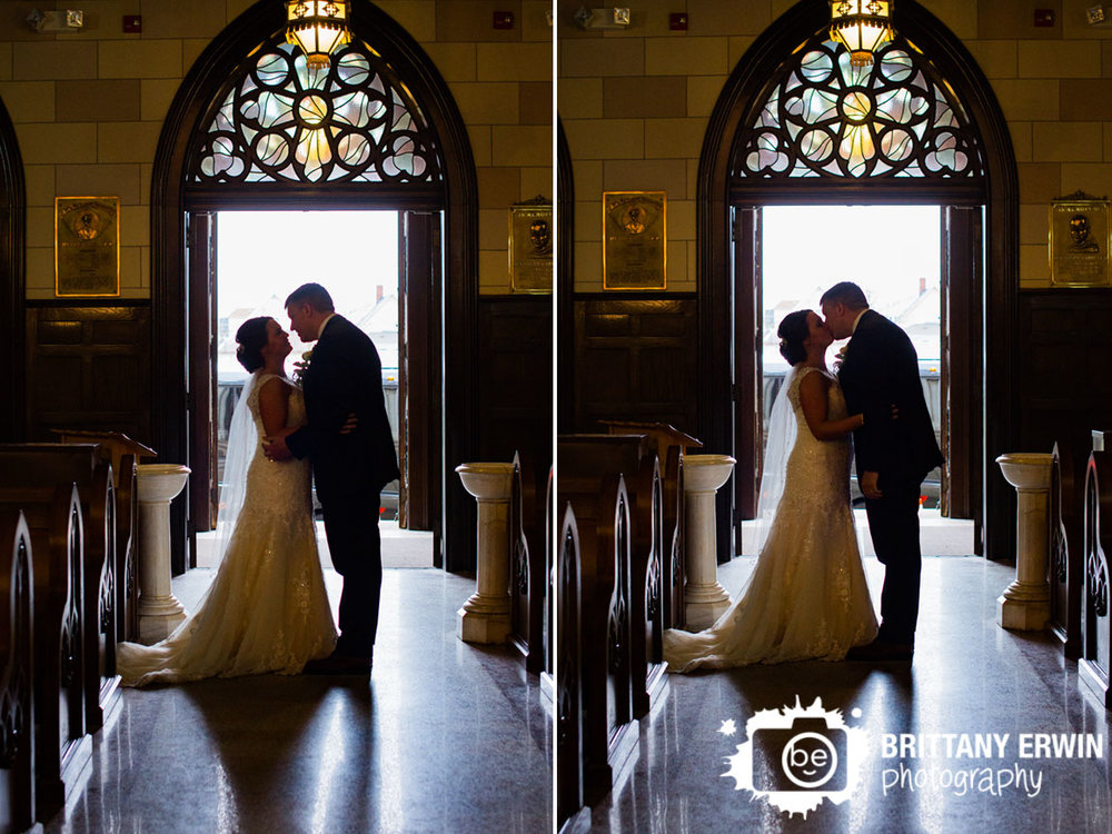 Indianapolis-wedding-photographer-sacred-heart-catholic-church-bride-groom-couple-kiss-silhouette.jpg