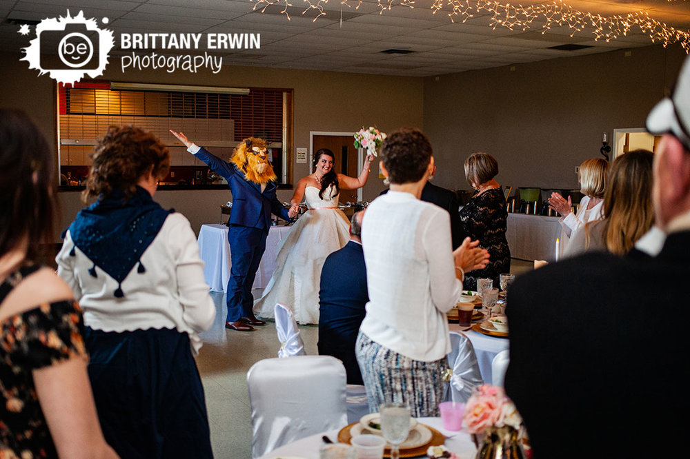 Columbus-Indiana-wedding-reception-photographer-bride-groom-beast-mask-disney-theme.jpg