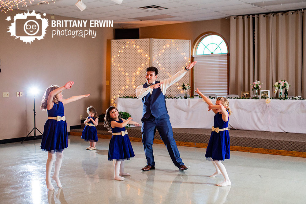 Columbus-Indiana-wedding-reception-photographer-elks-lodge-dance-floor-groom-with-flower-girls.jpg