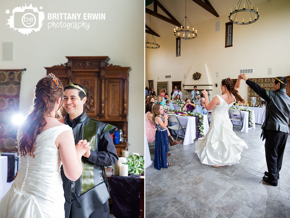 Clayshire-Castle-wedding-reception-photographer-bride-groom-first-dance-twirl.jpg