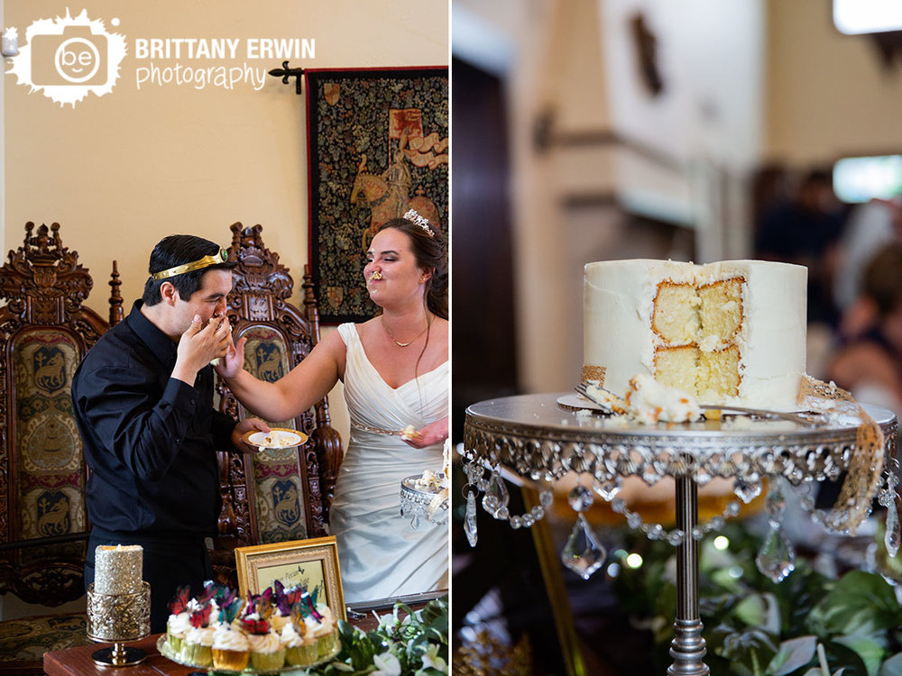 Clayshire-Castle-wedding-reception-photographer-cake-cutting-smash-face.jpg