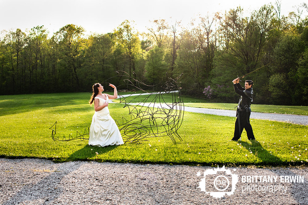 Indiana-wedding-photographer-clayshire-castle-dragon-slay-groom-bride-sunset.jpg