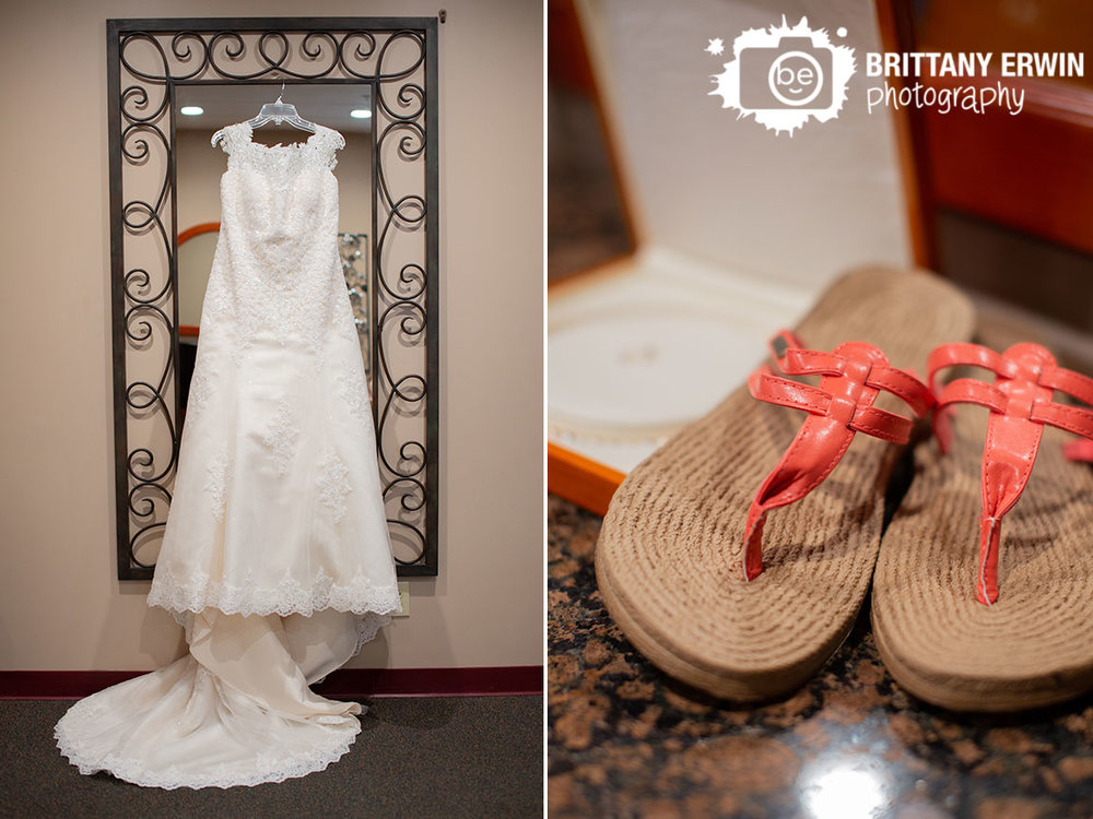 Bridal-Gown-hanging-from-mirror-sandals-wedding.jpg