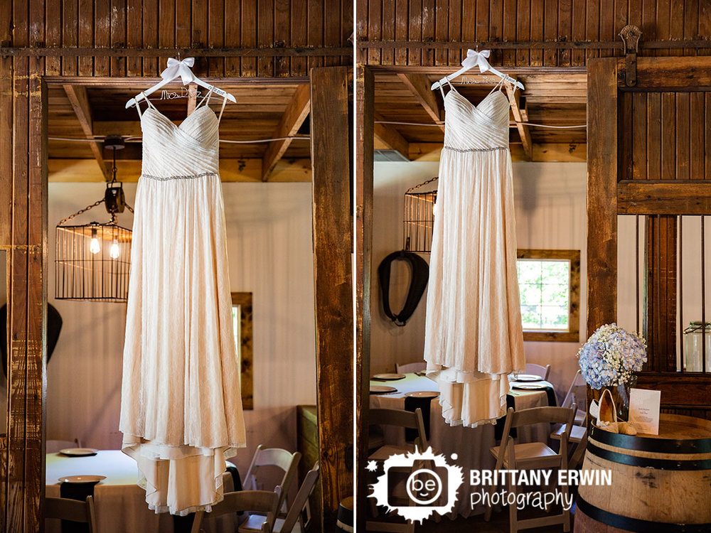 lace-wedding-dress-custom-hanger-with-date-horse-barn-converted-to-reception-venue.jpg