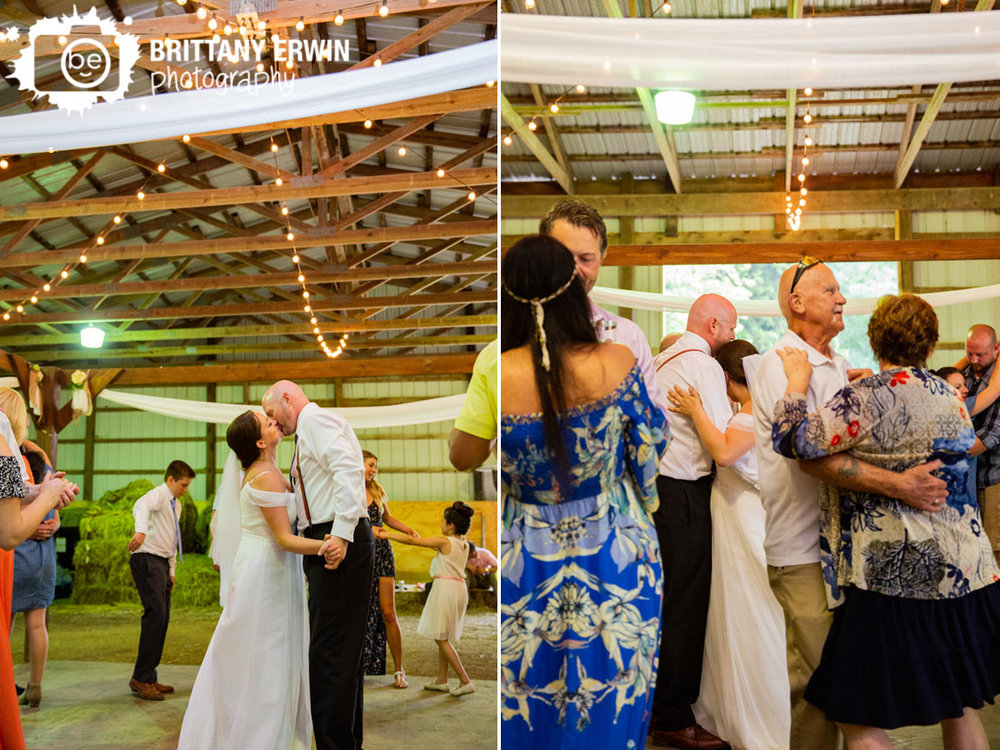 First-dance-barn-wedding-tulle-flowers-around-dance-floor.jpg