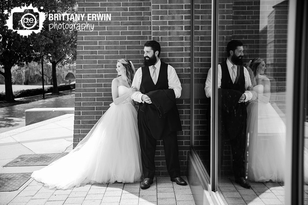 Bridal-party-portrait-photographer-couple-at-NCAA-hall-of-fame-outdoor-summer.jpg