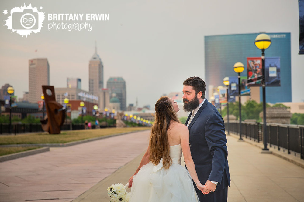Indianapolis-skyline-bridal-portrait-sunset-canal-bridge.jpg