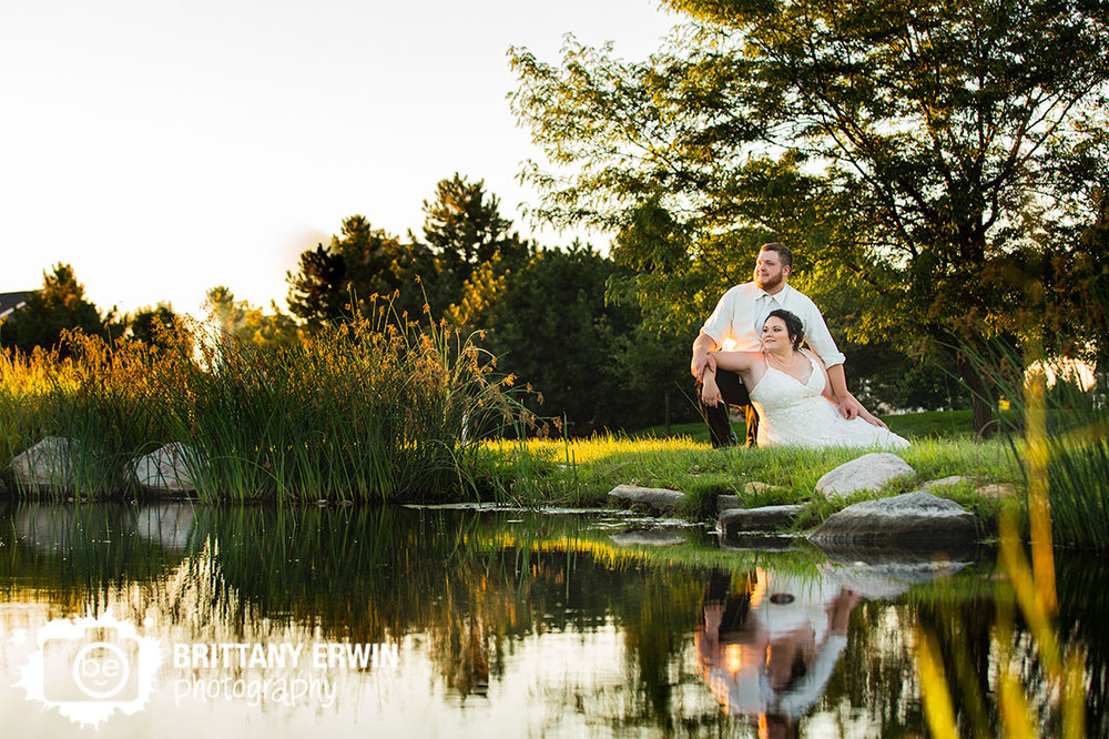 Heartland-crossing-golf-links-wedding-photographer-roundabout-pond-sunset-portrait.jpg