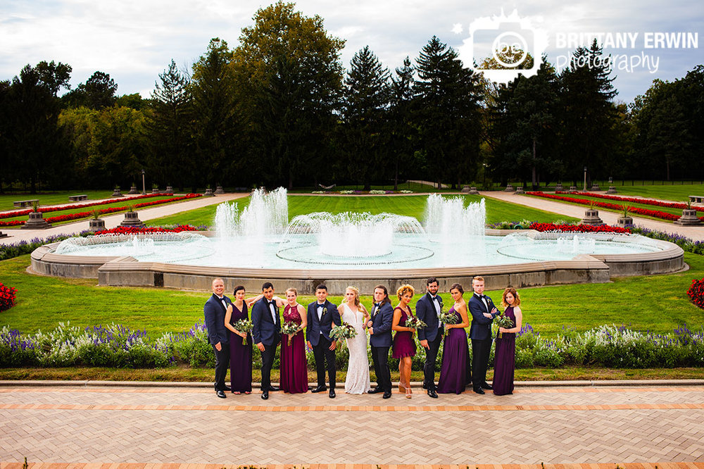 Indianapolis-wedding-photographer-bridal-party-portrait-Garfield-Park-sunken-gardens-fountain-flower-garden.jpg