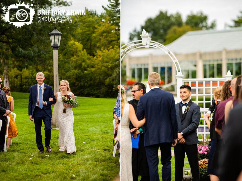 Garfield-Park-sunken-garden-wedding-photographer-bride-walking-down-aisle-with-father-groom-reaction.jpg
