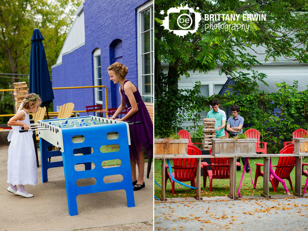 Tube-Factory-Art-Space-fun-cocktail-hour-jenga-foosball-flower-girl-jr-bridesmaid-playing-outside.jpg