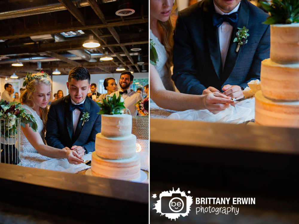 Fountain-Square-Indiana-wedding-photographer-cake-cutting-flowers-bouquet-topper.jpg