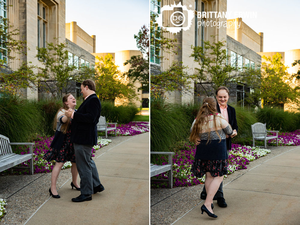 Bloomington-Indiana-University-IU-engagement-portrait-photographer-flowers-fall-couple-dancing-fun-laugh.jpg