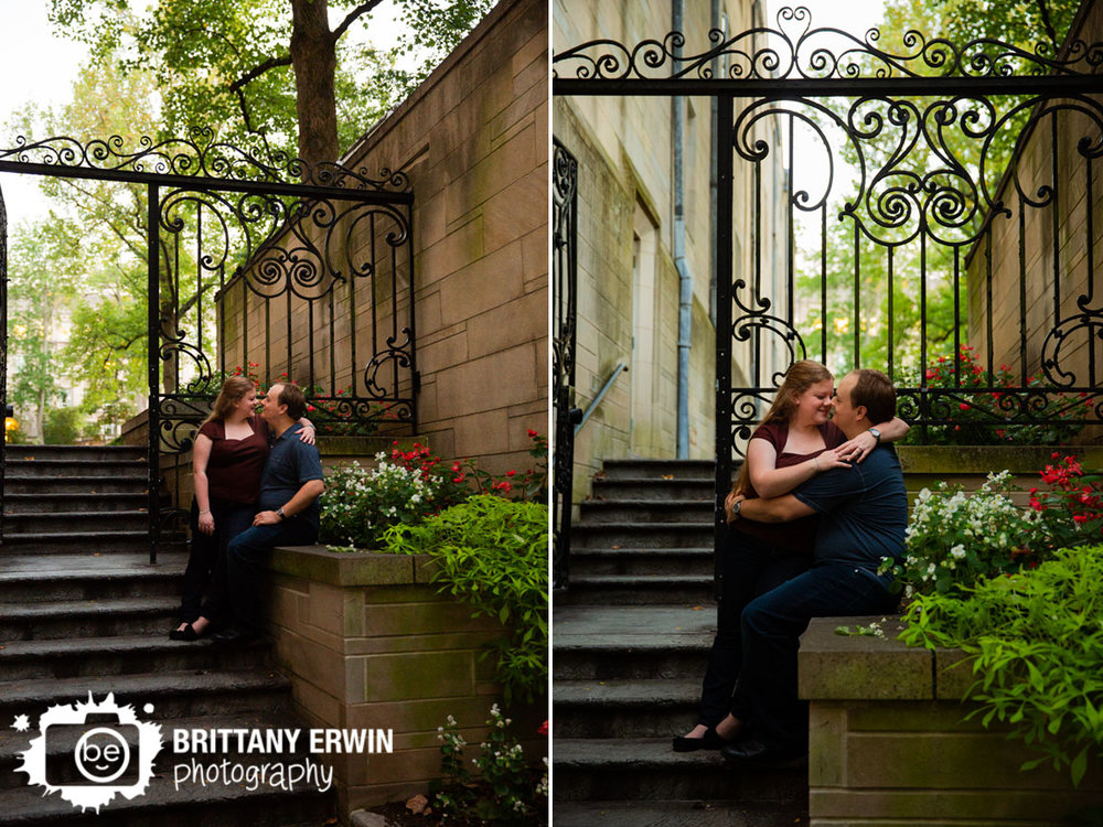 Bloomington-Indiana-engagement-portrait-photographer-couple-ornate-gate-courtyard-flowers.jpg