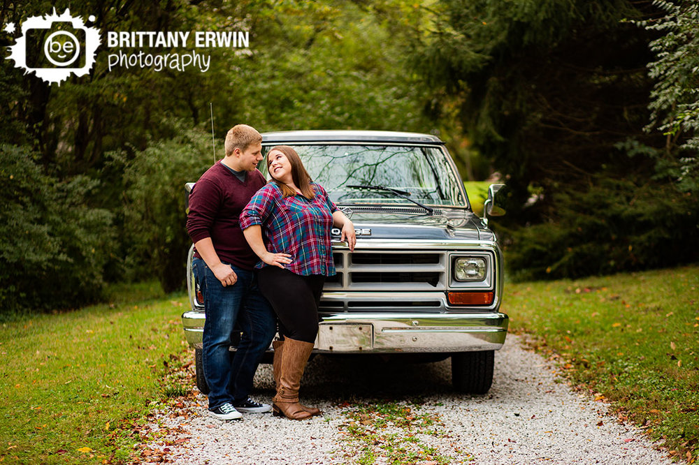 Camby-Indiana-dodge-ram-truck-engagement-portrait-photographer-outdoor-gravel-path.jpg